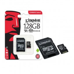 Cartão de Memória Kingston 128GB Classe 10 Micro SDXC