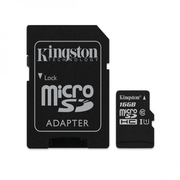 Cartão de Memória Kingston 16GB Classe 10 Micro