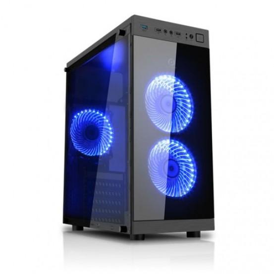 Gabinete Gamer K-Mex Anjo da  Noite- Preto com Azul