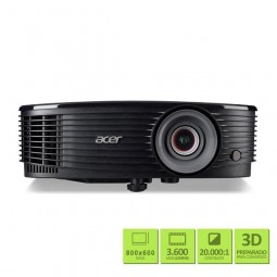 Projetor Acer 3600 Lumens XGA 3D Preto X1223H