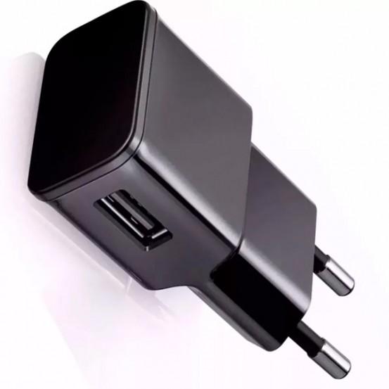 Fonte Carregador Tomada Usb Celular Iphone Samsung Universal Preto