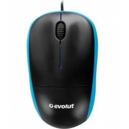 Mouse Usb Optico Evolut Eo-102 Blue 1000 Dpi