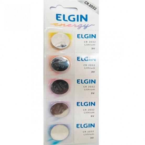 Bateria Cr2032 Elgin 3v Lithium
