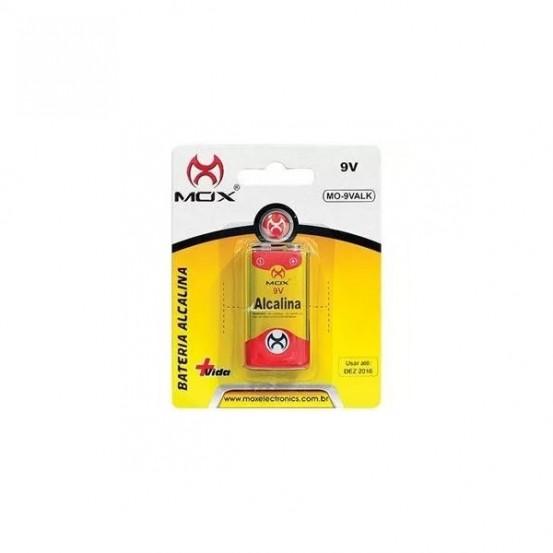 Bateria 9v Alkalina Mox