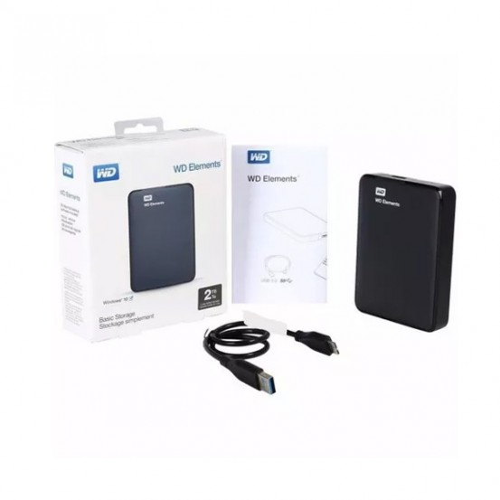 Hd 2tb Externo Portátil Western Digital Elements  Usb 3.0