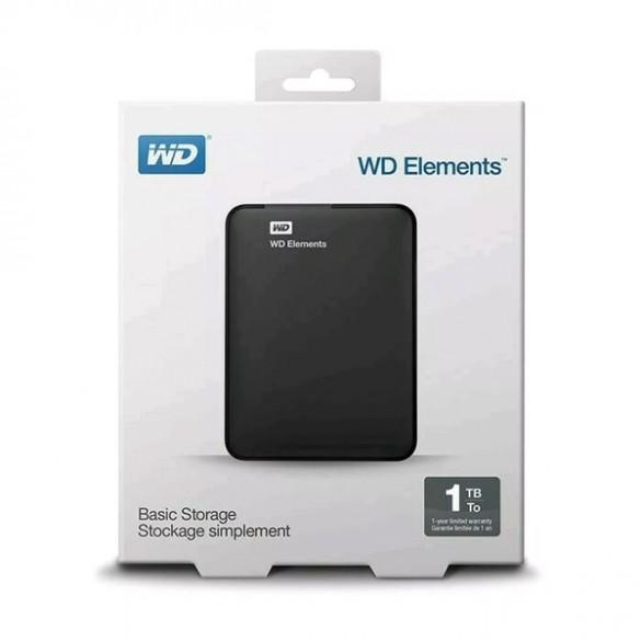 Hd Externo 1tb Wd Portatil Western Digital Elements Usb 3.0