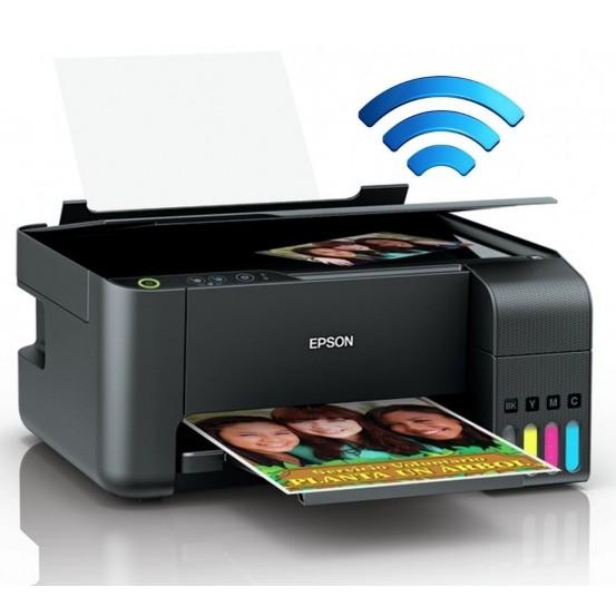 Multifuncional Epson L3150 Tanque de Tinta EcoTank Colorida, USB, Wi-Fi Direct, Bivolt
