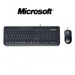 Kit Teclado + Mouse Óptico Usb Preto Wired 600 Microsoft